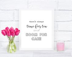 Kids Room Wall Art, Kitchen Wall Art, Nursery Wall Art, Typography Prints, Quote Prints, Wall Art Prints, Cake Quotes, Tea Quotes, Foil Art