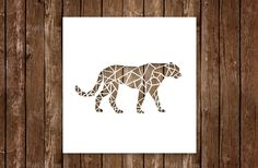 Canvas Cutout #leopard #africanbigfive