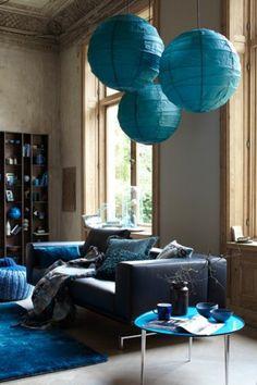 Déco bleu canard : idées et inspiration | Pinterest | Deco salon ...