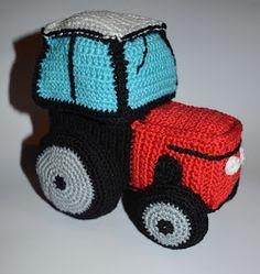 "Máma ,,Na dovolené"" Crochet Hats, Free Pattern, Tractor, Knitting Hats"