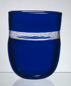 Cobalt Blue a Glass Vase. Arne Jon Jutrem for Hadeland