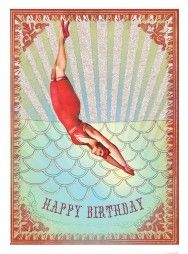 Birthday Diver 5x7 Card