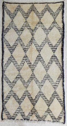 natural virgin wool carpet BENI OUARAIN berber rug from Morocco #rug #den #entry