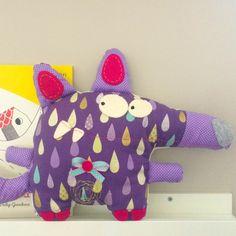 Lallo il lupo, peluche per bambini di Bubasara_Unique & Handmade su DaWanda.com