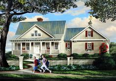 House Plan 86315 | Cottage Country Farmhouse Plan with 2278 Sq. Ft., 4 Bedrooms, 3 Bathrooms, 2 Car Garage at family home plans