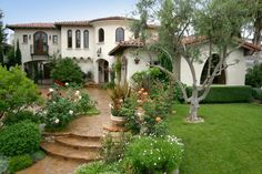 spanish style frontyard ideas | Spanish Style Home James Glower Frontyard | Decorclips.com
