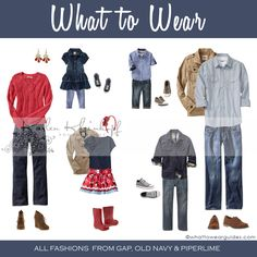 """What to Wear - Family.  Has that """"All-American"""" feel to it, but not over-the-top red, white. and blue.  The colors are muted with some neutrals thrown in.  Lots of American denim!  :-)  Absolutely classic feel to these colors & clothes."""