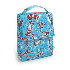 Bumkins Lunch Bag, Blue Cat in the Hat Reusable Lunch Bags, Insulated Lunch Bags, Best Lunch Bags, Lunch Box, Store Baby Food, Cat Hat, Blue Cats, Baby Food Recipes, Hats