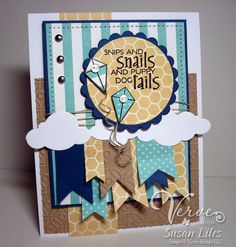 Love this card by Susan Liles that uses our Cloud Border