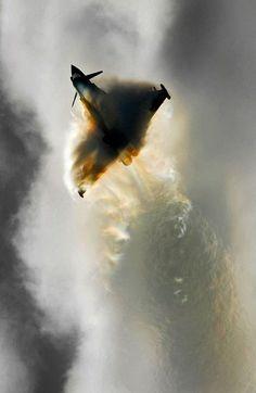 RAF Typhoon. Sound barrier....broken.