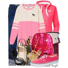 A fashion look from August 2014 featuring pink sweater, hoodie shirt and super skinny jeans. Browse and shop related looks. Percy Jackson Outfits, Fandom Fashion, Fandom Outfits, Aphrodite, Super Skinny Jeans, Pink Sweater, Victoria's Secret Pink, Preppy, Gap