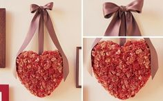 Corazón para San Valentín  | votaDIY Straw Bag, Bloom, Diy, Heart, Sweet, Creative, Ideas Para, How To Make Flowers Out Of Paper, Crepe Paper Flowers