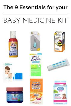 9 Essential items for your baby medicine kit.  Baby medical, baby care, baby registry checklist, baby registry list, newborn baby checklist