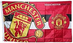 Manchester United Large band Small Crest Flag NEW DESIGN