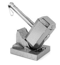 Thor's Hammer Mjolnir DIY Metal Earth Model Kit Feeling like a superhero. Look out it is Thor! Thors Hammer, Thor's Hammer Mjolnir, Metal Earth Models, Metal Models, Metal Puzzles, 3d Puzzles, The Avengers, Avengers Series, Avengers