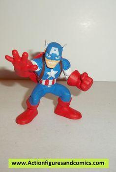 Marvel Super Hero Squad CAPTAIN AMERICA shield on back complete pvc action figures