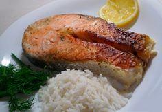 Нежный лосось запеченный в сливках