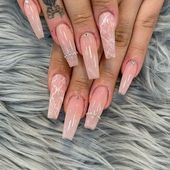 In search for some nail designs and some ideas for your nails? Here's our list of must-try coffin acrylic nails for stylish women. Nail Art Designs, Diamond Nail Designs, Diamond Nail Art, Acrylic Nail Designs, Palm Desert, Summer Gel Nails, Fun Nails, Dimond Nails, Burgundy Acrylic Nails