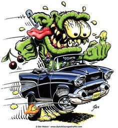 ◆ Visit ~ MACHINE Shop Café ◆ ◆ Krazy Kar Kartoons ~ Board ◆ (Ed 'Big Daddy' Roth's, 'Rat Fink')
