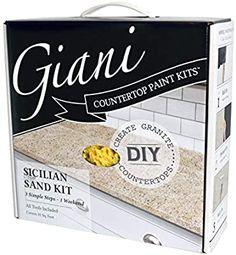 Amazon.com: Giani Countertop Paint Kit (Sicilian Sand): Home Improvement Countertop Paint Kit, Painting Countertops, Painting Cabinets, Countertop Makeover, Painting Laminate, Cabinet Makeover, Giani Granite, Granite Countertops, Granite Paint