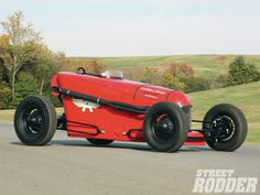 Check out the Thimble Drome Special which is described as a Miller Indy racer meeting a Dry Lakes roadster with a little bit of '50s Indy racer thrown in, too - Street Rodder Magazine