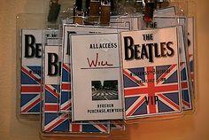 Beatles party VIP passes