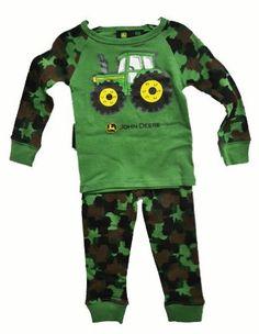 John Deere Camo Toddler Pajama Set Green: Amazon.com: Clothing