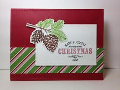 Peaceful Pinecones: PTI, Jolly holiday dsp: SU!, by beesmom - Cards and Paper Crafts at Splitcoaststampers