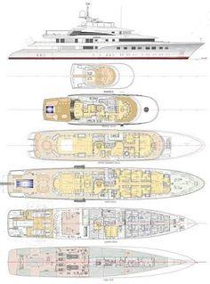 Alfa Nero Luxury Yacht deck plans | Yachts | Pinterest ...