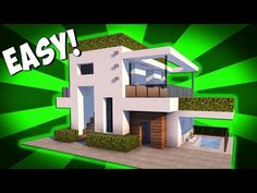 How to make a modern house in minecraft! - YouTube