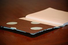 Easy Sewing Project - Notebook Cover. Would be great project for beginner or child.