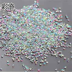1000PCS/Pack 1.3mm Tiny pixie Crystal Clear AB Non Hotfix Rhinestones Nail Rhinestones For Nails 3D Nail Art Decoration Gems