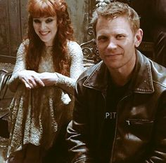 Mark Pellegrino (Lucifer) and Ruth Connel (Rowena) Cuties!