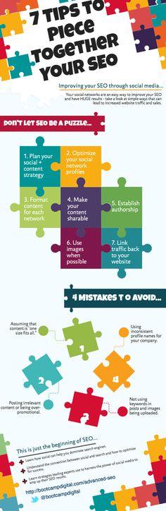 Infographie : Les médias sociaux pour améliorer le #SEO