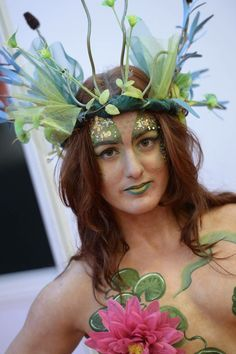 Model Rhiannon.  Nixie Body paint for Professional Beauty North. Artist Kate Cox (Funky Monkey Face Painting & Body Art)
