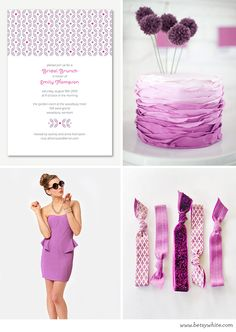 A Radiant Orchid Bridal Brunch // Flights of Fancy // (click for image sources)