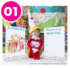 DIY Birthday Invitation Templates - Part of the DIY Elf on the Shelf Birthday Party Collection!