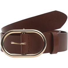 FRAME DENIM Le Oval Cognac // Leather belt