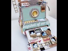 The most adorable Polaroid-style camera photo box project! From Maya Road designer