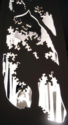 """Création originale, """"promenons-nous dans les bois..."""" est une lampe en bois bois découpée et peinte à la main. Dimensions: 80*40*20cm Plus de détails sur mon site: http://peintredecors.com/ Original work, """"promenons-nous dans les bois..."""" is a cut and hand-painted wooden lamp. Dimensions: 80*40*20cm More details on my site: http://peintredecors.com/"""