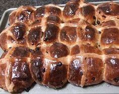 We've waited all year for these Easter gems! Glazed hot cross buns straight from the oven...