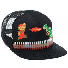 055e46e6e95f3 Nintendo NES Super Mario Bros World 8bit Bowser Koopa Snapback Baseball Cap  Hat