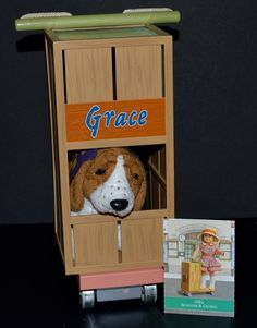 KIT DOG GRACE~BIRTHDAY HAT~SCOOTER~CARD! 1ST EDITION! AMERICAN GIRL DOLL~RETIRED…