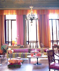 Designers Guild love. Adore the hot pink and orange...this is awesome!