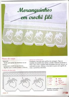 Minhas imagens - Zuleika Sousa - Picasa Web Albums Filet Crochet, Crochet Borders, Crochet Cross, Crochet Chart, Thread Crochet, Crochet Lace, Crochet Table Runner, Crochet Tablecloth, Crochet Designs