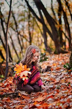 Little Girl in Fall Leaves. Autumn Photography, Children Photography, Portrait Photography, Family Photography, Fall Family Pictures, Fall Photos, Autumn Day, Autumn Leaves, Portraits