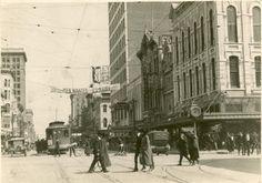 Houston - Main Street, circa 1920. #houston #history #texas
