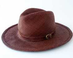 Panama Fedora Hat Straw Fedora Hat Men's Hat by KatarinaHats