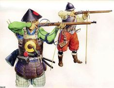 Japanese Arquebusier and Western European Musketeer