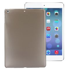 [$1.30] Smooth Surface Plastic Case for iPad Air (Dark Grey)